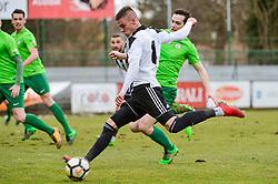 Luka Bobicanec of ND Mura during football match between ND Mura and ND Ilirija 1911 in Round #18 of 2.SNL 2017/18 on March 11, 2018 in Mestni stadion Fazanerija , Murska Sobota , Slovenia. Photo by Mario Horvat / Sportida