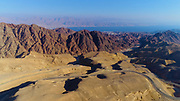 View of the Gulf of Eilat (Gulf of Aqaba) from the Eilat mountains, Israel