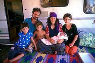 ROME June 2000.Rom's camp Casilino 900.Roma family Bosnian's.