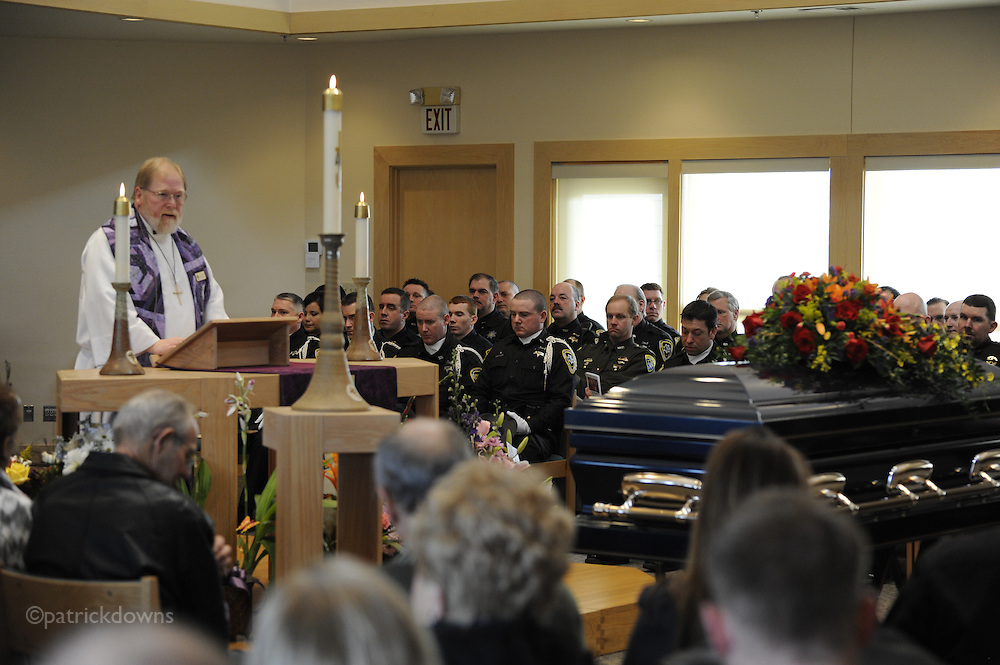 Funeral for Chris Romero, father/husband and longtime Sheriff's deputy. March 3, 2012 at King of Glory Church, Billings MT. Photo: Patrick Downs
