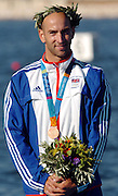 20040828 Olympic Games Athens Greece .[Canoe/Kakak Flatwater Racing] .Lake Schinias - Saturday Finals day.GBR K1Bronze medal winner Ian Wynnel..Photo  Peter Spurrier.email images@intersport-images.com...