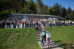 Fans during rowing at Slovenian National Championship and farewell of Iztok Cop, on September 22, 2012 at Lake Bled, Ljubljana Slovenia. (Photo By Matic Klansek Velej / Sportida)