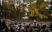 President Obama speaks to a crowd of 14,000 people on the Green of Ohio University.