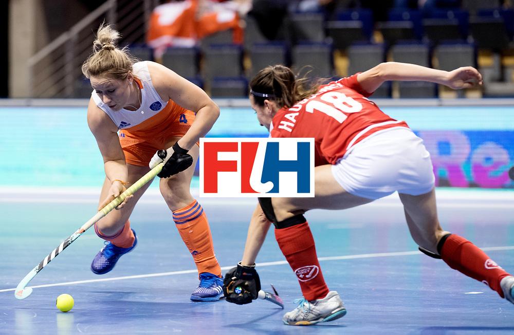 BERLIN - Indoor Hockey World Cup<br /> Women: Netherlands - Switzerland<br /> foto: Lieke van Wijk.<br /> WORLDSPORTPICS COPYRIGHT FRANK UIJLENBROEK