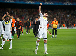 24.04.2012, Stadion Camp Nou, Barcelona, ESP, UEFA CL, Halblfinal-Rueckspiel, FC Barcelona (ESP) vs FC Chelsea (ENG), im Bild Chelsea's captain Frank Lampard celebrates his side's 3-2 victory over FC Barcelona after the UEFA Championsleague Halffinal 2st Leg Match, between FC Barcelona (ESP) and FC Chelsea (ENG), at the Camp Nou Stadium, Barcelona, Spain on 2012/04/24. EXPA Pictures © 2012, PhotoCredit: EXPA/ Propagandaphoto/ David Rawcliff..***** ATTENTION - OUT OF ENG, GBR, UK *****