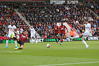 Football - 2019 / 2020 Premier League - AFC Bournemouth vs. West Ham United<br /> <br /> Aaron Cresswell of West Ham United fires in the equaliser at the Vitality Stadium (Dean Court) Bournemouth <br /> <br /> COLORSPORT/SHAUN BOGGUST