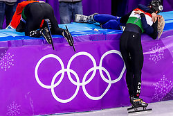 22-02-2018 KOR: Olympic Games day 13, PyeongChang<br /> Short Track Speedskating / Shaolin Sandor Liu of Hungary, Elise Christie of Great Britain