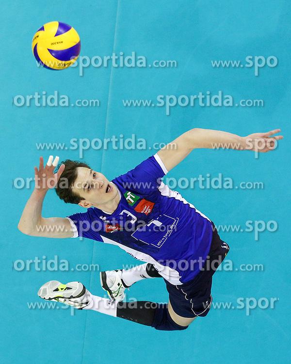 Stefan Chrtiansky of Hypo Tirol during volleyball match between Hypo Tirol Innsbruck and Calcit Kamnik in Semifinal of MEVZA Cup Men - Final Four, on March 11, 2016 in Hala Tivoli, Ljubljana, Slovenia. Photo by Morgan Kristan / Sportida