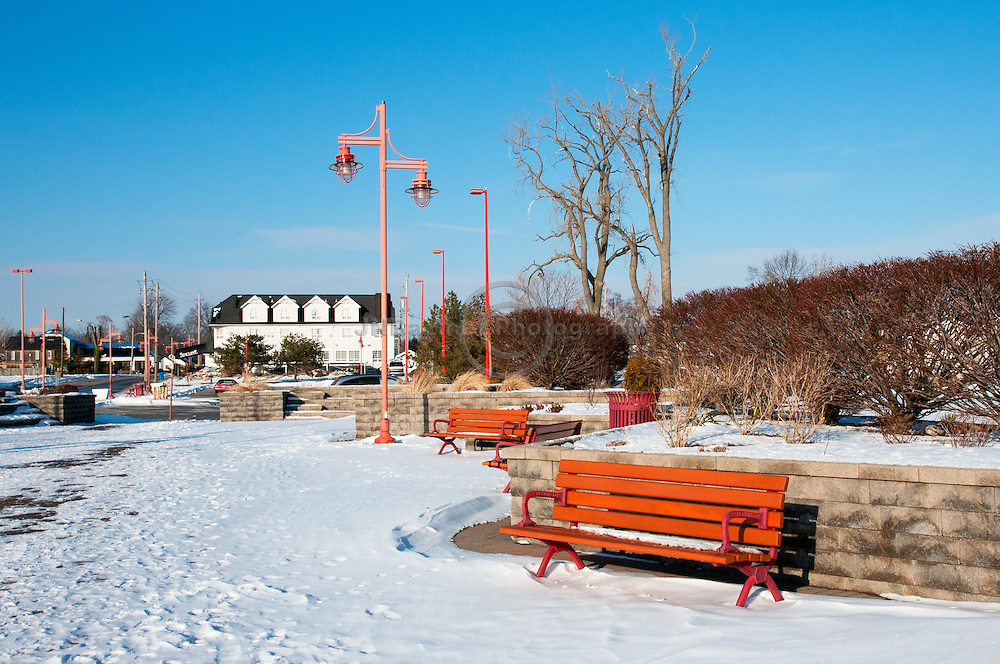 Marina Park on the shores of Lake Erie in Leamington, Ontario.