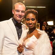 NLD/Amsterdam/20140307 - Boekenbal 2014, Milouska Meulens en partner .....