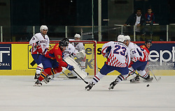 20.04.2016, Dom Sportova, Zagreb, CRO, IIHF WM, Rumaenien vs Kroatien, Division I, Gruppe B, im Bild LORINCZ Levente // during the 2016 IIHF Ice Hockey World Championship, Division I, Group B, match between Romania and Croatia at the Dom Sportova in Zagreb, Croatia on 2016/04/20. EXPA Pictures © 2016, PhotoCredit: EXPA/ Pixsell/ Dalibor Urukalovic<br /> <br /> *****ATTENTION - for AUT, SLO, SUI, SWE, ITA, FRA only*****