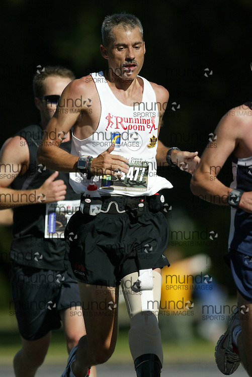 "(Ottawa, Ontario -- 20 Sep 2009) RICK BALL of Orillia competing in the Army Run half-marathon in Ottawa. [Photo credit should read ""Sean Burges / Mundo Sport Images""]"