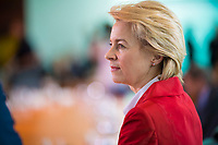 DEU, Deutschland, Germany, Berlin, 30.05.2018: Bundesverteidigungsministerin Dr. Ursula von der Leyen (CDU) vor Beginn der 11. Kabinettsitzung im Bundeskanzleramt.