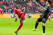 Liverpool forward Sadio Mané (10) controls the ball during the Champions League match between FC Red Bull Salzburg and Liverpool at the Red Bull Arena, Salzburg, Austria on 10 December 2019.