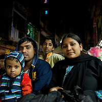 Businessman with his wife, child and cousin
