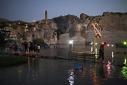 Hasankey, a 12,000-year-old town in the Anatolia region of south-east Turkey, home to a rich archaeological heritage spanning nine civilisations, including Roman, Byzantine and Ottoman, could vanish forever under plans to build a controversial dam. Sitting on the banks of the Tigris River, Hasankeyf was declared a natural conservation area in 1981, and excavations in the area have uncovered a settlement dating back to 9500 BC. City will be under water coming months. Photo by Mustafa Alkac/Depo Photos/ABACAPRESS.COM