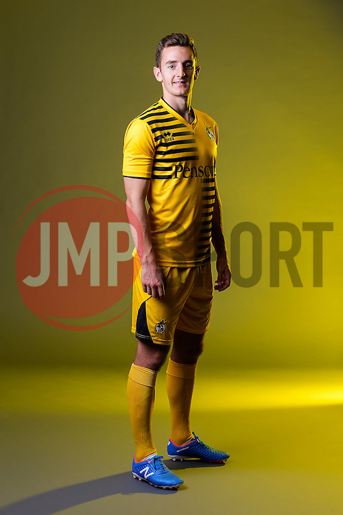 Tom Lockyer of Bristol Rovers poses in the new Away Strip ahead of the 2015/16 Sky Bet League Two campaign - Mandatory byline: Rogan Thomson/JMP - 07966 386802 - 22/07/2015 - SPORT - Football - Bristol, England - Memorial Stadium - Bristol Rovers Kit Launch.