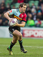 Nick Evans in action, Harlequins v Cardiff Blues in a European Challenge Cup match at Twickenham Stoop, Twickenham, London, England, on 17th January 2016
