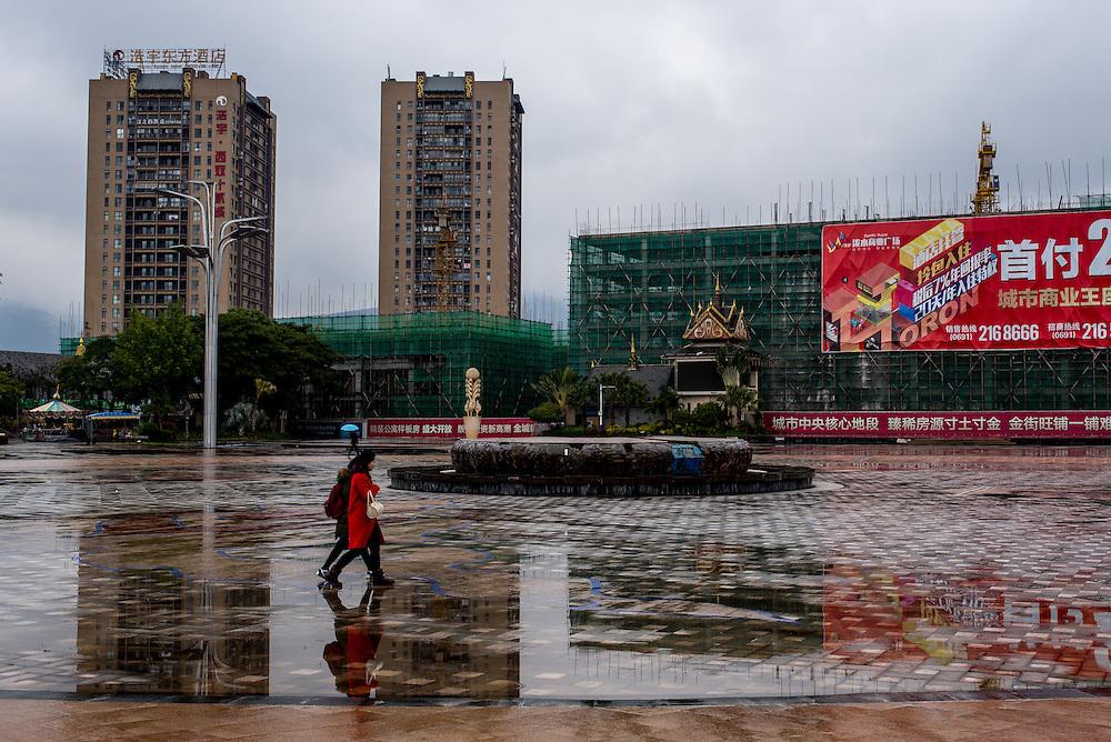 Downtown Xishuangbanna, Yunan, China.
