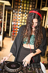 © Licensed to London News Pictures . 10/10/2013 .Manchester , UK . Singer songwriter Eliza Doolittle ( aka Eliza Sophie Caird ) DJs in the basement of Selfridges . Vogue Fashions Night Out in Selfridges , Exchange Square , Manchester City Centre . Photo credit : Joel Goodman/LNP