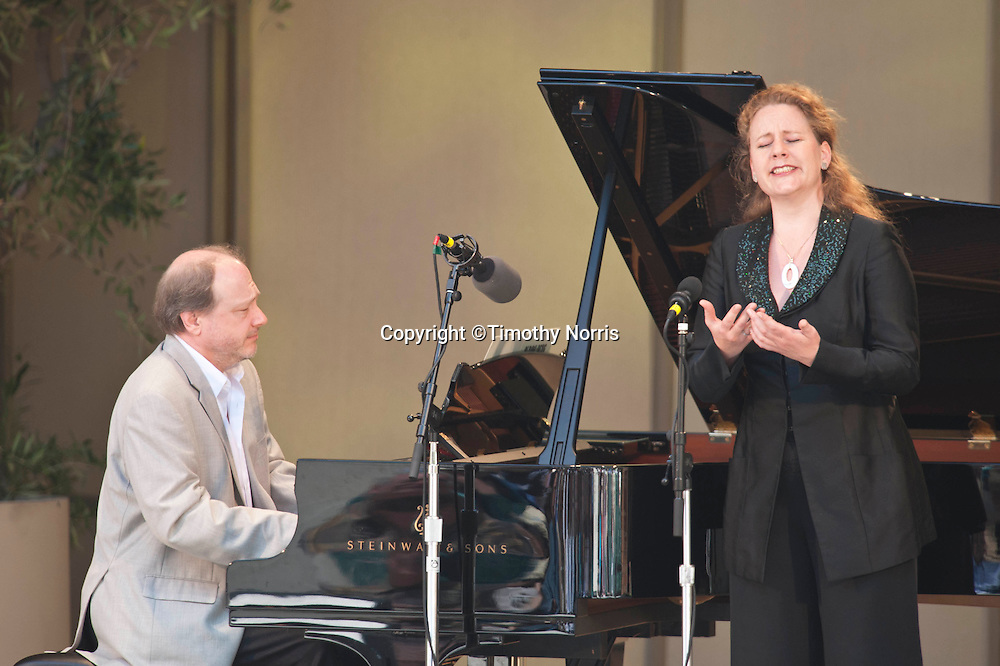 Marc-André Hamelin and Christianne Stotijn perform Alban Berg's Four Songs, Op. 2 at the 66th Ojai Music Festival on June 9, 2012 in Ojai California.