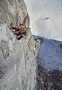 "Lynn Hill climbing ""The Bird"" rated 5.11 in the Ak-Su, Pamirs, Kyrgyzstan"
