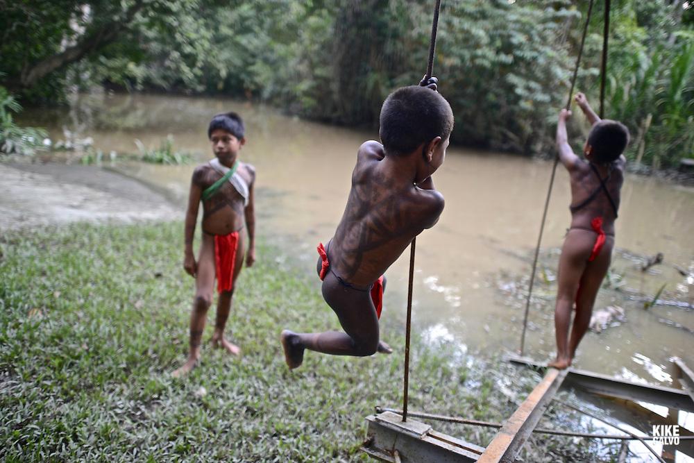 Embera Indigenous Community. Sambu District. Darien Region.