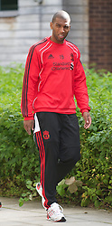 LIVERPOOL, ENGLAND - Wednesday, August 18, 2010: Liverpool's Ryan Babel during a training session at Melwood ahead of the UEFA Europa League Play-Off 1st Leg match against Trabzonspor A.S. (Pic by: David Rawcliffe/Propaganda)