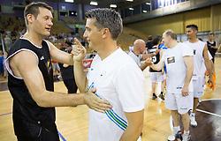 Goran Jagodnik and Mile Acimovic during football and basketball charity event All Legends by Olimpiki, on June 9, 2015 in Hala Tivoli, Ljubljana, Slovenia. Photo by Vid Ponikvar / Sportida