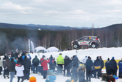 15.02.2015,  Karlstad, SWE, FIA, WRC, Schweden Rallye, im Bild Robert Kubica/Maciej Szczepaniak (RK M-Sport WRT/Fiesta RS WRC) // during the WRC Sweden Rallye at the Karlstad in Karlstad, Sweden on 2015/02/15. EXPA Pictures © 2015, PhotoCredit: EXPA/ Eibner-Pressefoto/ Bermel<br /> <br /> *****ATTENTION - OUT of GER*****