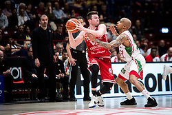 April 29, 2018 - Milan, Milan, Italy - Rotnei Clarke (#11 VL Pesaro) looks for a pass during a basketball game of Poste Mobile Lega Basket A between  EA7 Emporio Armani Milano vs VL Pesaro at Mediolanum Forum, in Milan, Italy, on April 29, 2018. (Credit Image: © Roberto Finizio/NurPhoto via ZUMA Press)
