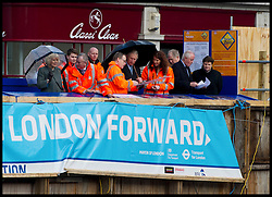 Prince Charles and The Duchess of Cornwall look around the Crossrail Project at Farringdon Tube Station, Wednesday January 30, 2013. Photo By Andrew Parsons / i-Images