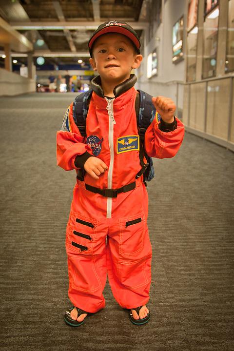 Future astronaunt, Jarrett, Oakland Airport