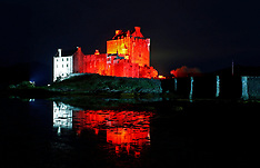 Eilean Donan Castle lit up for Poppy day | Dornie | 2 November 2017
