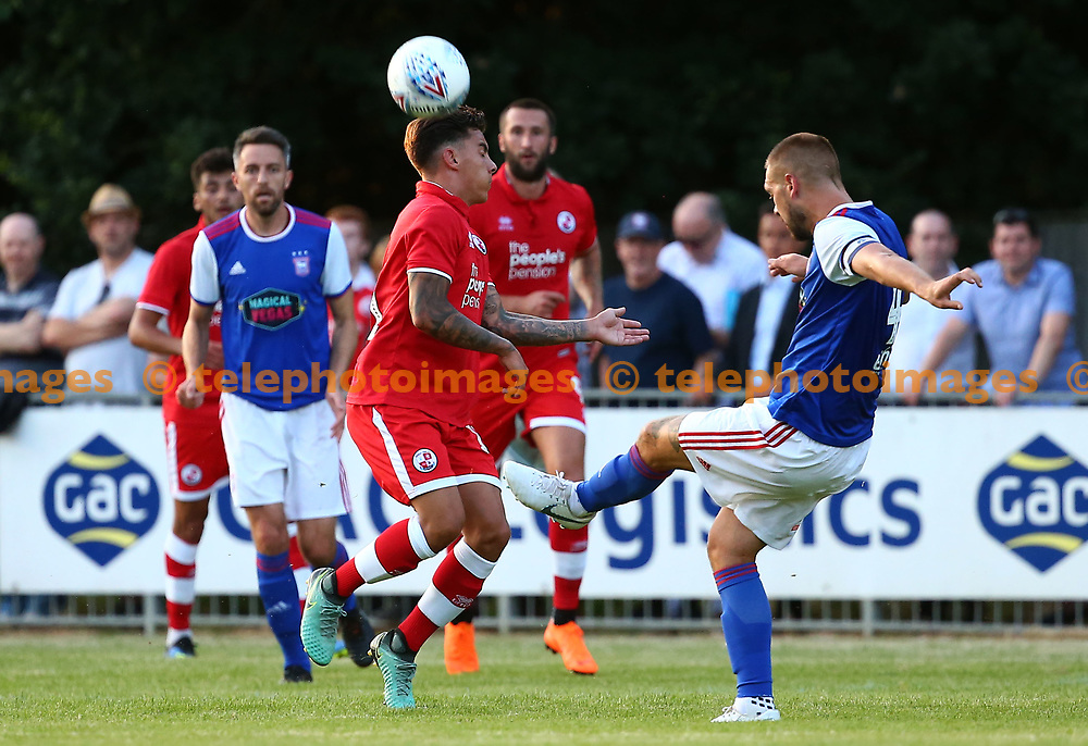 Crawley's Reece Grego-Cox during the pre season friendly between Crawley Town and Ipswich Town at East Court, East Grinstead, UK. 17 July 2018.
