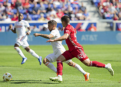 September 30, 2018 - Harrison, New Jersey, United States - Brian White (42) of Red Bulls & Eric Remedi (11) of Atlanta United FC chases ball during regular MLS game at Red Bull Arena Red Bulls won 2 - 0  (Credit Image: © Lev Radin/Pacific Press via ZUMA Wire)