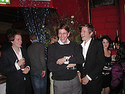 tom Parker-Bowles, Ben Elliot and Zac goldsmith. Referendum party poker evening. LEquipe Anglais. Duke St. 20 May 2002. © Copyright Photograph by Dafydd Jones 66 Stockwell Park Rd. London SW9 0DA Tel 020 7733 0108 www.dafjones.com