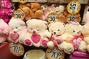 Malaysia, Kuala Lumpur. Central Market. Teddybears.