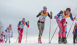 05.12.2015, Nordic Arena, NOR, FIS Weltcup Langlauf, Lillehammer, Herren, im Bild v.l.: Anders Gloeersen (NOR), Jonas Dobler (GER), Petter Northug (NOR) // Anders Gloeersen of Norway, Jonas Dobler of Germany, Petter Northug of Norway during Mens Cross Country Competition of FIS Cross Country World Cup at the Nordic Arena, Lillehammer, Norway on 2015/12/05. EXPA Pictures © 2015, PhotoCredit: EXPA/ JFK