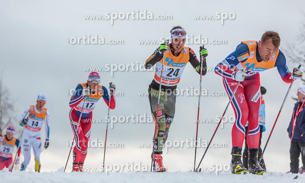 05.12.2015, Nordic Arena, NOR, FIS Weltcup Langlauf, Lillehammer, Herren, im Bild v.l.: Anders Gloeersen (NOR), Jonas Dobler (GER), Petter Northug (NOR) // Anders Gloeersen of Norway, Jonas Dobler of Germany, Petter Northug of Norway during Mens Cross Country Competition of FIS Cross Country World Cup at the Nordic Arena, Lillehammer, Norway on 2015/12/05. EXPA Pictures © 2015, PhotoCredit: EXPA/ JFK