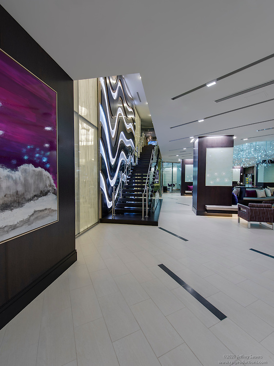 Architectural Interior Image of The Elevation Apartments in Washington DC by Jeffrey Sauers of Commercial Photographics, Architectural Photo Artistry in Washington DC, Virginia to Florida and PA to New England