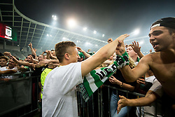 Aljaz Ivacic of NK Olimpija celebrates with fans after winning during football match between NK Aluminij and NK Olimpija Ljubljana in the Final of Slovenian Football Cup 2017/18, on May 30, 2018 in SRC Stozice, Ljubljana, Slovenia. Photo by Vid Ponikvar / Sportida