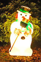 Glowing Frosty the Snowman welcomes you this Christmas!