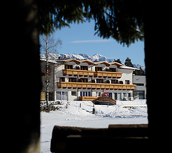 25.12.2011, Hochstein, Lienz, AUT, Vorbereitungsarbeiten am Hochstein anlaesslich des Skiweltcup der Damen in Lienz am Hochstein, im Bild Hotel Moosalm // during the preparation of the race way for Ladies Skiworldcup at Hochstein, Lienz, 25-12-2011, EXPA Pictures © 2011, PhotoCredit: EXPA/ M. Gruber