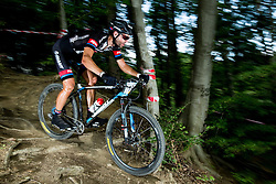 Luka Mezgec during Cross Country XC Mountain bike race for Slovenian National Championship in Kamnik, on July 12, 2015 in Kamnik,  Slovenia. Photo by Vid Ponikvar / Sportida