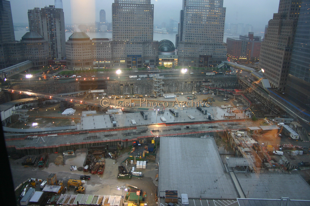 Ground Zero New York City 2006 showing the construction site where the Trade Towers had stood prior to their destruction in a Terrorist attack in 2001