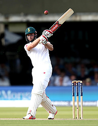 Thesis de Bruyn of South Africa hits a pull shot - Mandatory by-line: Robbie Stephenson/JMP - 07/07/2017 - CRICKET - Lords - London, United Kingdom - England v South Africa - Investec Test Series