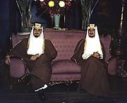 Amir Khaled, left, and Amir Faisal, sons of King Ibn Saud of Saudi Arabia, c1941. Faisal reigned 1964-1975, Khaled 1975-1982.