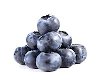 Blueberrys on white background - close-up