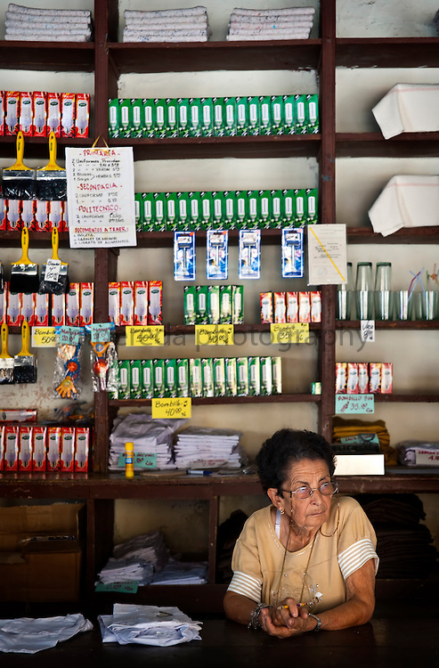 CUBA (Santa Clara). 2009. Shop in Santa Clara. Shortage and poor variety of products is something common in state's cuban shops.